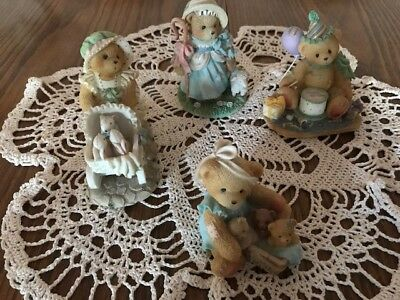 Cherished Teddies Lot Of 4 Figures (No Boxes) GREAT CONDITION 1993-1998