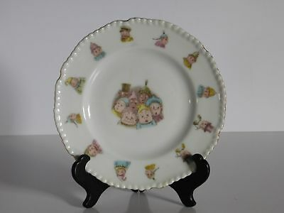 "Old Porcelain China Palmer Cox Brownie 7 3/8"" Plate Gold Trim"