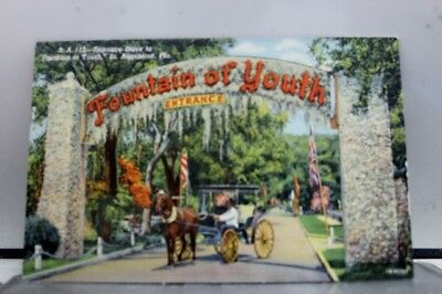 Florida FL St Augustine Fountain of Youth Entrance Postcard Old Vintage Card PC