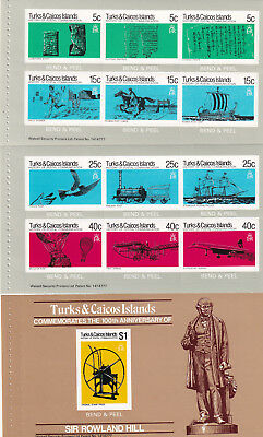 (24198) Turks and Caicos Rowland Hill Booklet Panes x3 1979