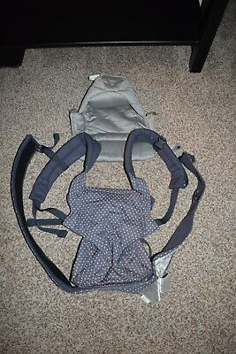 Ergobaby Infant Carrier Dusty Blue W/polka Dots! Ergo Baby