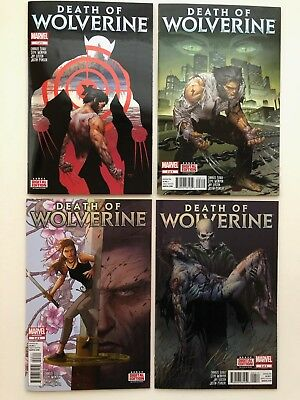 Death Of Wolverine 1-4 2 3 Nm Complete Set Foil Covers 2014