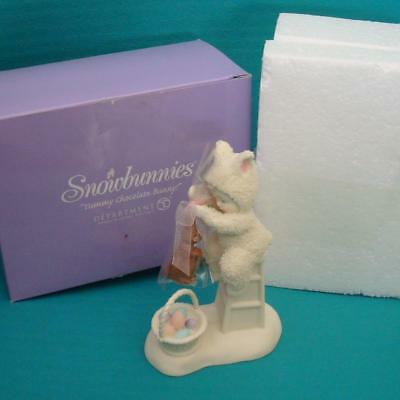 Department Dept 56 Snowbunnies Yummy Chocolate Bunny Figurine Box