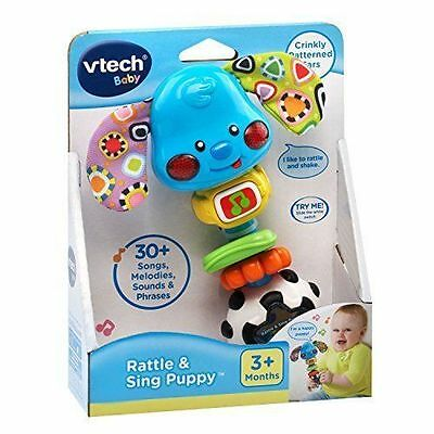 Baby Rattle Sounds Singing Puppy Songs Hand Developmental Motor Grasp Toy NEW