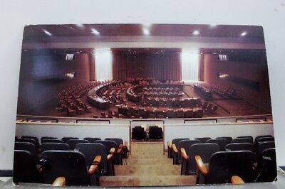 United Nations UN Assembly Conference Room Headquarters Postcard Old Vintage PC
