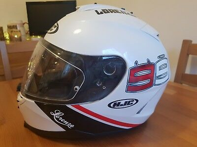 HJC IS-17 LORENZO HELMET BOXED pinlock, sun visor & tearoff strips