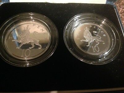 Royal Mint, 1992 Silver Proof Ten Pence Two-coin Set