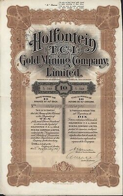 South Africa, Holfontein (T.C.L.) Gold Mining Co. Ltd. Share warrant