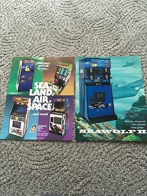MIDWAY SEA WOLF 2 & other flyer space invaders