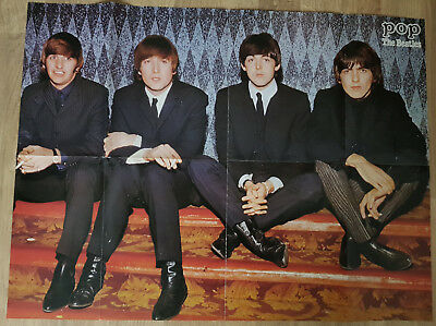 Zeitschrift POP Superposter THE BEATLES extrem RAR