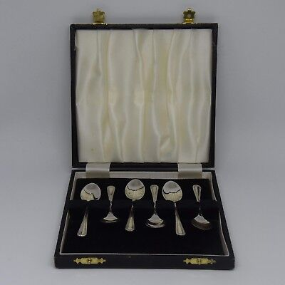 Superb Cased Set Of 6 Solid Silver Tea Spoons Birmingham 1986 C Ltd