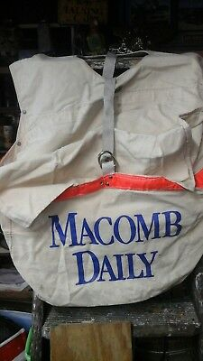 Vintage macomb daily  double CARRIER  canvas BAG