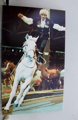 Ad Ringling Bros Barnum Bailey Circus Cossack Riding Postcard Old Vintage Card