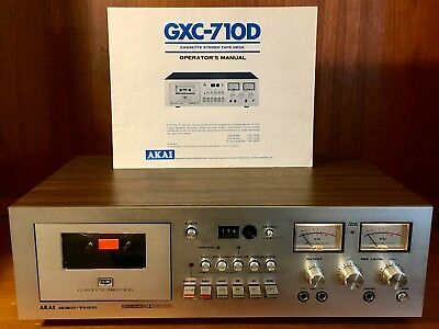 Vintage Akai Gxc-710D Cassette Stereo Tape Deck W/ Manual