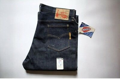 1950s 60 Vintage Cone Mills Raw Selvedge Denim Jeans 501 Style Deadstock NWT