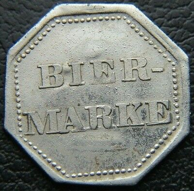 Wwi - Wwii Germany Beer Token Bier Marke German Stein Token Wc2128