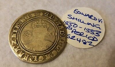 Edward 6th VI 1550 - 1553 SILVER SHILLING HAMMERED COIN - LOVELY CONDITION