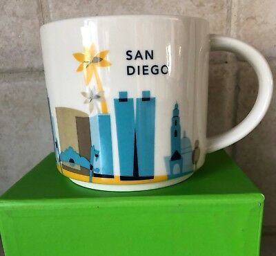 New San Diego Starbucks Coffee Mug And Gift Card You Are Here Free Shipping