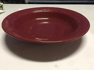 "Longaberger Paprika Round Large 12"" Serving Pasta Vegetable Salad Bowl Dish"
