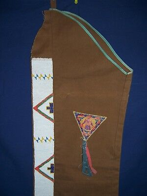 Native American Single Leggin With Beaded Strip