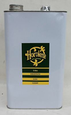 NEW HOROLENE 5L Ammoniated Concentrated Clock Cleaner/Degreaser Solution