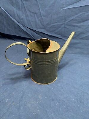 Vintage watering can galvanized steel Mini Art Deco
