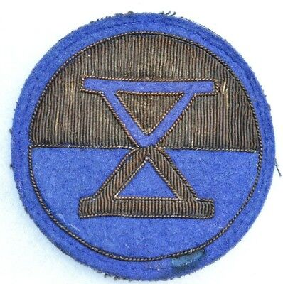 10th CORPS BULLION US THEATER MADE PATCH WWII U.S.