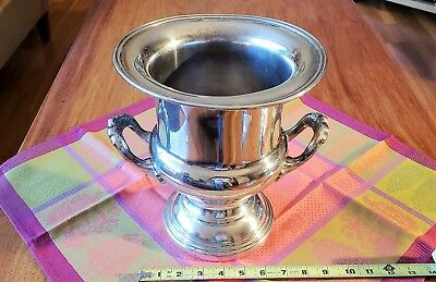 Antique Silver Plate Champagne Wine Chiller Ice Bucket, Classic Design