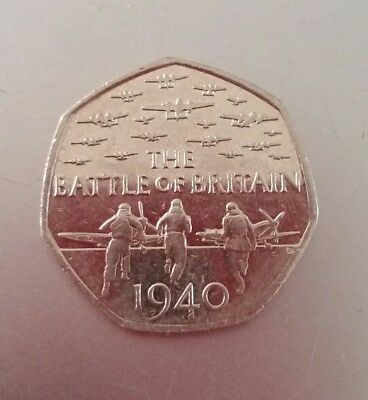 Rare *Fifty Pence 50p coin * Battle of Britain 1940 collectors coin 2015 *