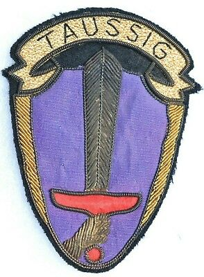 Theater Made Us Wwii Bullion Patch U.s.usa Ww2 Insignia Taussig Hong Kong Made
