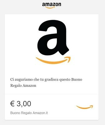 Buono Regalo Amazon.it da 3 euro Amazon Gift card 3€