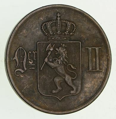 1899 Norway 5 Ore - Historic World Coin *261