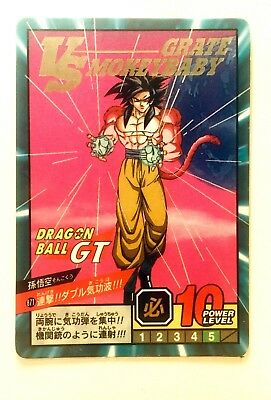 Carta CARDASS DRAGON BALL GT SUPER BATTLE POWER LEVEL 871 Foil / Goku SS4