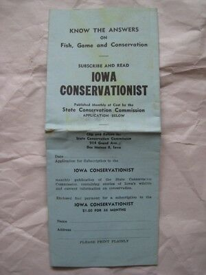 1949 1950 Iowa Hunting & Trapping Laws Pamphlet