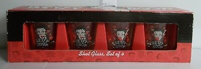 2009 BETTY BOOP SHOT GLASS, SET OF 4 1oz ITEM# 51987 NEW SET 1