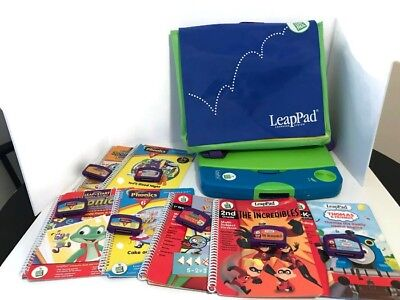 LEAP FROG Leap Pad Learning System W/7 Books and 7 Cartridges + storage case