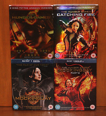 Complete Hunger Games Collection (4 movies) on Blu-ray, with glossy slipcovers!