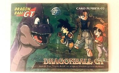 Carta DRAGON BALL GT - Bandai Story Digest // CHROME // Goku, Pan, Trunks