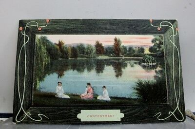 Greetings Contentment Postcard Old Vintage Card View Standard Souvenir Postal PC