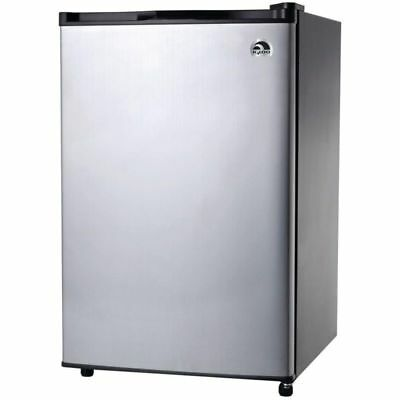 Igloo 3.2 Cu Ft Mini Fridge, Compact Refrigerator FR321, Platinum - Refurbished