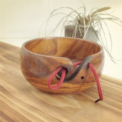Home Knitting Crocheting Accessories Eco-friendly Wooden Yarn Storage Bowl~GP
