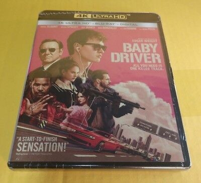 Baby Driver (4K Ultra HD+Blu-ray/Digital)NEW(Sealed)-Free Shipping with Tracking