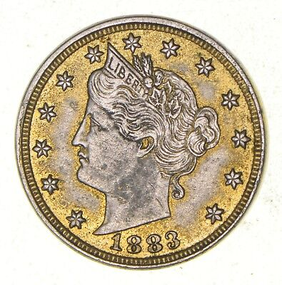 1883 24K Gold Plated 'Racketeer' Liberty V Nickel - Great History *407