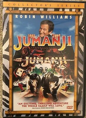 Jumanji Collector's Series DVD starring Robin Williams and Kirsten Dunst
