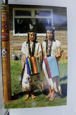 Scenic Two Indian Maidens Postcard Old Vintage Card View Standard Souvenir Post