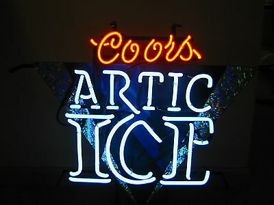Coors Arctic Ice         Neon Sign