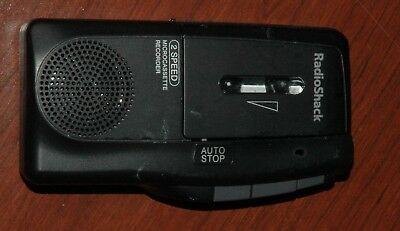 Radio Shack Microcassette Recorder 14-1148 2 Speed