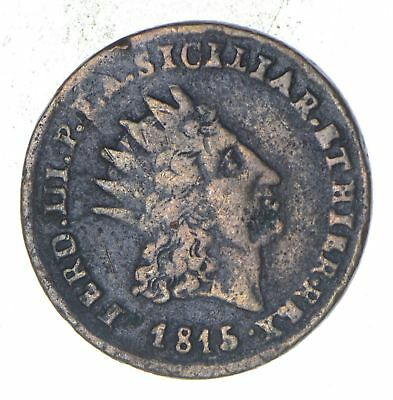 1815 Italian States Sicily 2 Grani - Historic World Coin *846