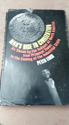 "Peter Farb 1968 ""Man's Rise to Civilization Hard Cover"