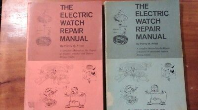 Henry B Fried The Electric Watch Repair Manual- Blue- 1965 Red- 2nd ed. 1972